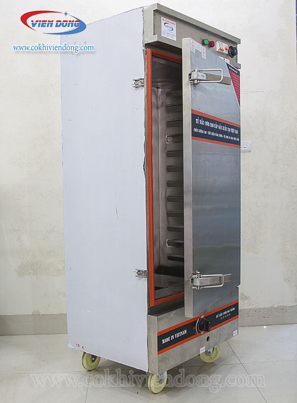 Tủ hấp giò chả 12 khay dùng điện và gas 3