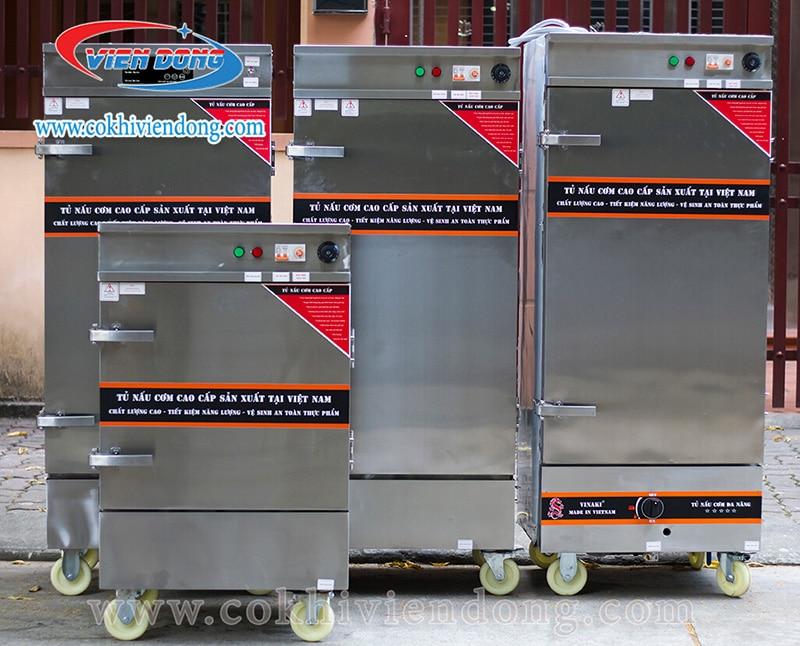Tủ hấp công nghiệp điện gas