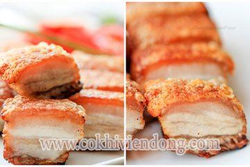 Thịt quay giòn bì ngon lạ thường
